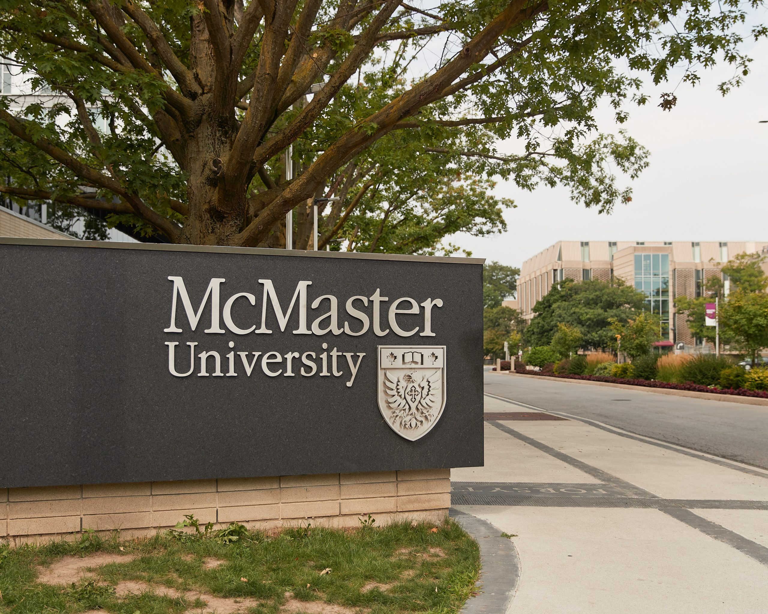 McMaster sign at Sterling and University